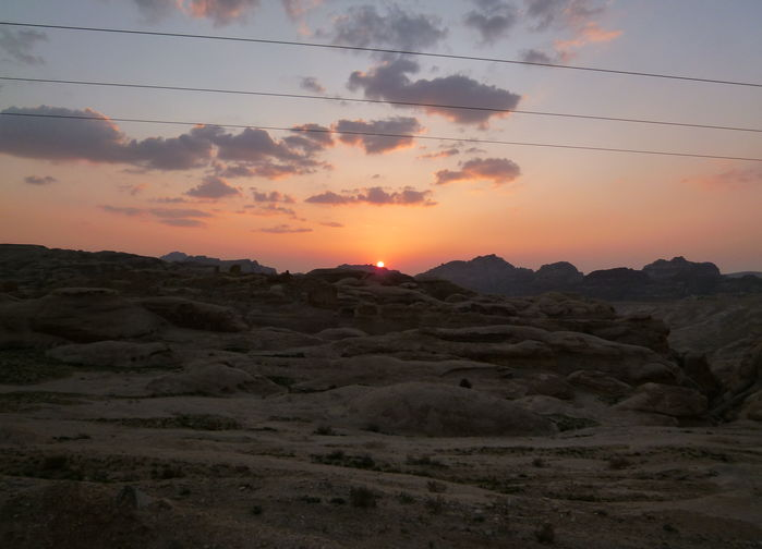 Solnedgang over Petra