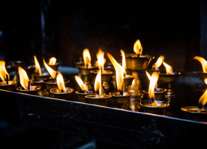 Aarti light ceremony