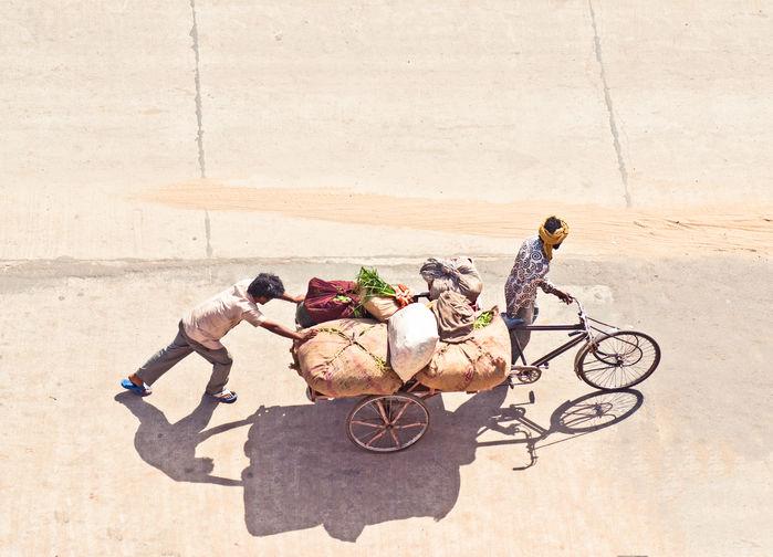 Sykkelrickshaw i Delhi