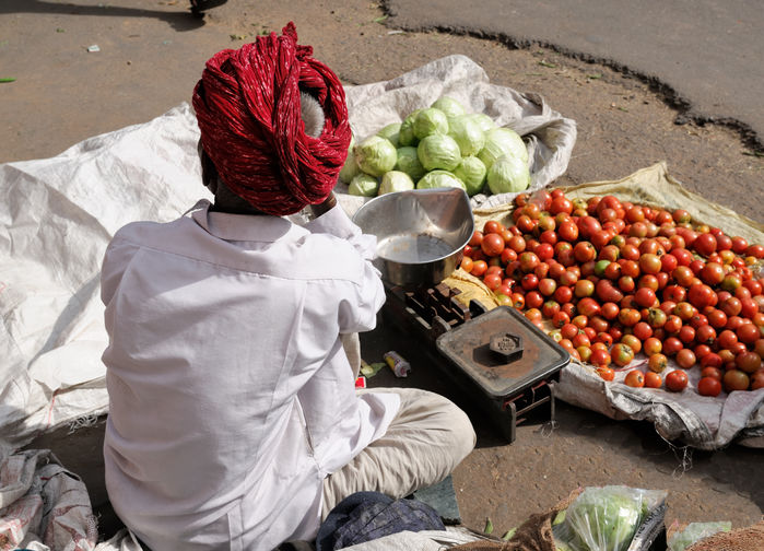 Grønnsaksselger Jaipur
