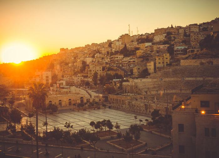 Solnedgang over Amman